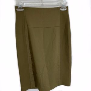 Bebe Army Green Bodycon Skirt